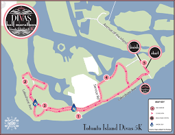 Air Canada Route Map by Divas Half Marathon Toronto Island Canada