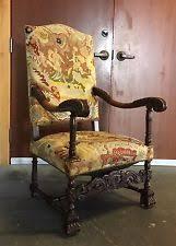 Throne Style Chair Renaissance Throne Chair Antique Furniture Ebay