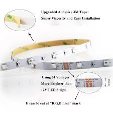 how to install led strip lights rxment led strip lighting 10m 32 8 ft 5050 rgb 300leds flexible