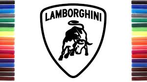 lamborghini symbol how to draw lamborghini logo youtube