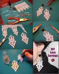 earrings diy diy lace earrings diy projects usefuldiy