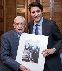 Sliding Down Banister Jack Knox Man Who Took Iconic Photo Of Pierre Trudeau Meets His Son
