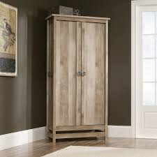 sauder kitchen furniture cannery bridge storage cabinet armoire lintel oak hayneedle