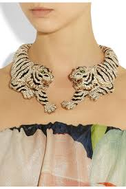 swarovski fashion necklace images Roberto cavalli gold plated swarovski crystal tiger necklace jpg