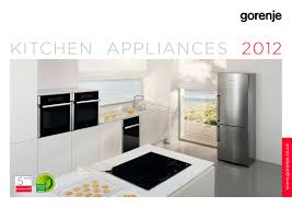 catalogue kitchen appliances 2012 gorenje pdf catalogues