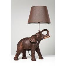 decor brown elephant lamp with cool shade for home lighting ideas