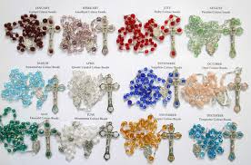 birthstone rosary birthstone colour rosaries butterfly beading