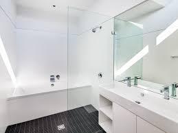 bathroom beige mirror square vessel sink tile wal wall mount