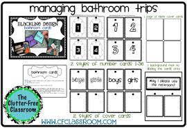 bathroom pass ideas managing bathroom trips tip 8 clutter free classroom