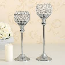 10 for 150usd crystal candle holder metal silver candlestick
