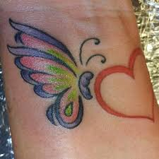 8 best butterfly heart tattoos images on pinterest butterfly