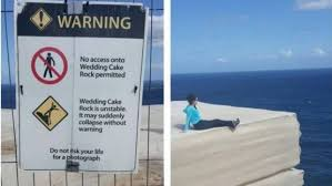 wedding cake rock sorrynotsorry thrillseekers to be fined for jumping safety fence