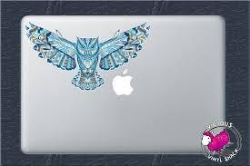 rainbow glitter car blue pattern flying owl color vinyl decal sticker car window