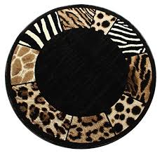 Animal Area Rugs Modern Animal Print Round Area Rug Design S 73 Black 5 Feet