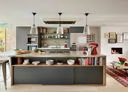 idee cuisine ilot idée cuisine avec îlot perspective mouvement lumière