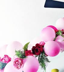 flowers and balloons diy balloon flower garland for 4 balloonsss