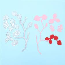 new metal cutting dies stencils branch of flower tree saplings diy
