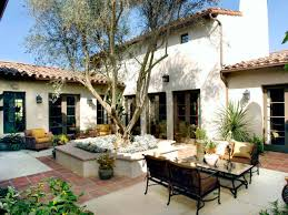 outdoor patio with tile courtyard garden spanish small patios