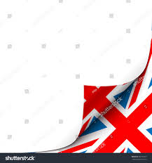 Red Flag Newspaper Curled Paper Corner Great Britain Flag Stock Vector 282772973