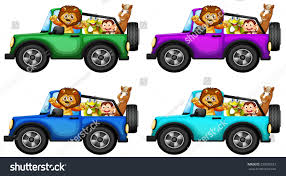 christmas jeep silhouette animals taking ride jeep stock vector 232676527 shutterstock