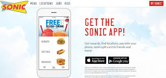 sonic gift cards get free slush at sonic drive in