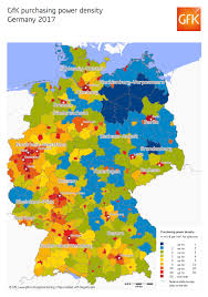 Bremen Germany Map by Map Of The Month Gfk Purchasing Power Density Germany 2017 Gfk