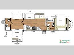2 bedroom 5th wheel floor plans camper pinterest rv rv
