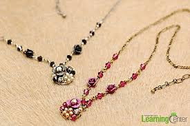 make crystal necklace images Ideas for jewelry making make your own chic long necklace jpg