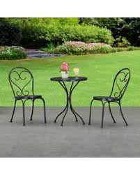 Black Metal Bistro Table Small Patio Table Patio Furniture Conversation Sets