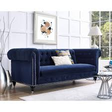 Blue Velvet Chesterfield Sofa Blue Velvet Chesterfield Tufted Sofa Tufted Sofa