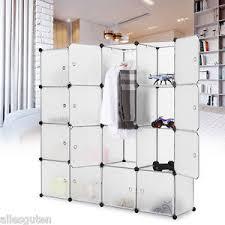 diy clothing storage 16 cube cabinet clothing storage organizer shoes rack portable
