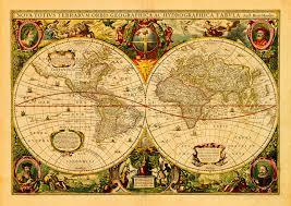 Mercator World Map by World 1630 Nova Totius Terrarum Mercator Hondius Map