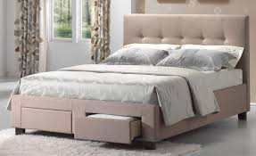 upholstered bed frame with drawers and cream bed frame and far rug