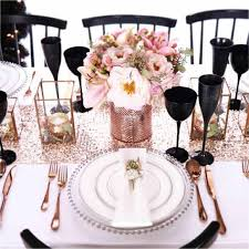 romantic table settings romantic table settings for a posh party tagged rose gold styled