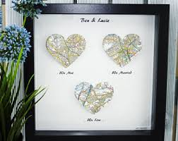 1 year anniversary ideas for him we met we married we live personalized map gift husband