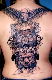 Wolf Indian Tattoos - wolf tattoos