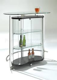 Glass Bar Table Clear Glass Contemporary Bar Table W Cromed Metal Frame