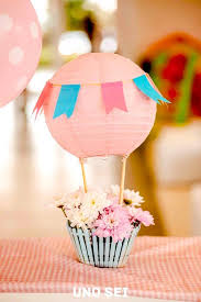 hot air balloon decorations table centerpiece shabby chic hot air balloon party from kara s