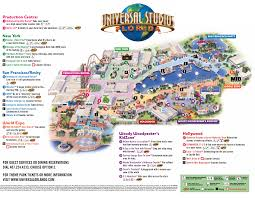 Disney Hollywood Studios Map Theme Park Brochures Universal Studios Hollywood Inside Map
