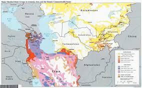 World Religion Map Map Ethnic Groups In Iran And Central Asia Informed Comment