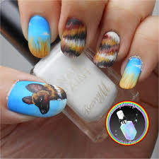 endangered species african wild dog nail art by ithfifi williams