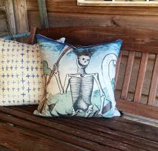 halloween pillows skulls halloween shop thewatsonshops store skeleton throw pillow