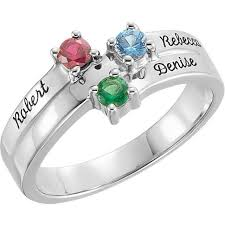 ring with name engraved silver 1 to 4 stones names engravable ring