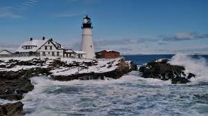 Rock Gardens Green Bay by Rugged Tag Wallpapers Lighthouse Rugged Seacoast Winter Stretched