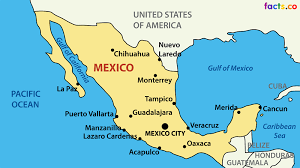 mexico on map mexico map with cities blank outline map of mexico