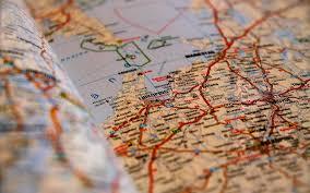Map Wallpaper Road Map Close Up Wallpaper 43603 1920x1200 Px Hdwallsource Com