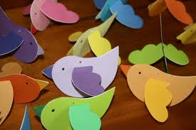 paper bird ornaments wee folk