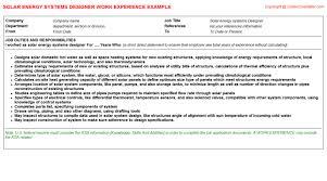 vivint solar cv work experience samples