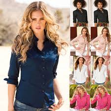s plus size blouses blouse 2017 casual s sleeved solid shirt plus