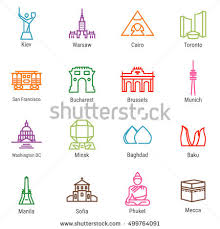 Washington travel icons images 3 flat landmark icons stock vector 305516906 shutterstock jpg